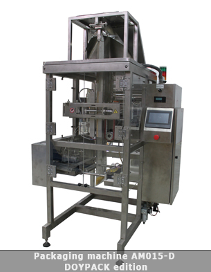 Vertical form fill seal machine for doypack bags