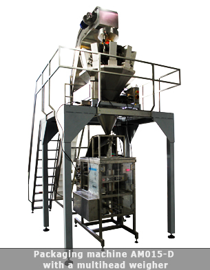 Packaging machine for doypack bags