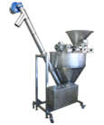 Installation for sieving, homogenizing and filling of powder products (100-3000g)